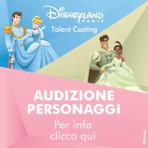 banner audizioni Disneyland Paris Italia