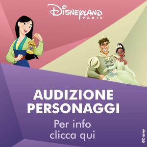 Banner Audizioni Disneyland Paris