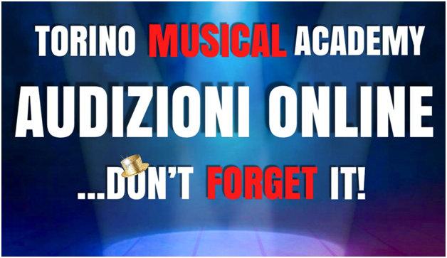 locandina Audizioni Torino Musical Academy