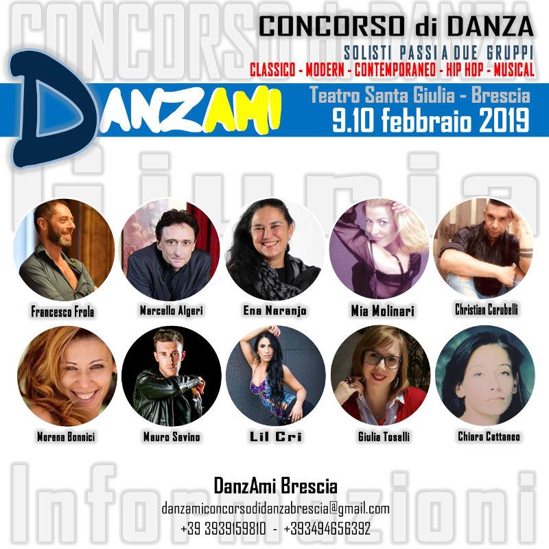locandina Concorso di Danza DanzAmi Brescia