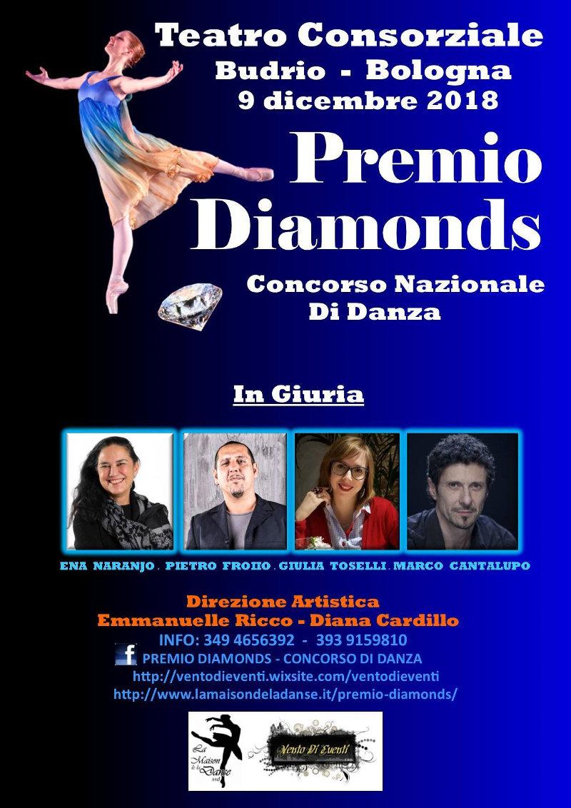 locandina concorso danza premio Diamonds