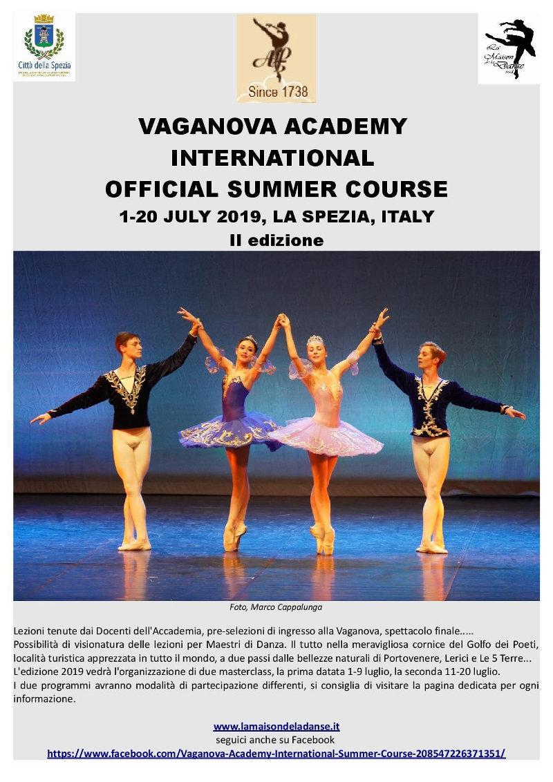 locandina corsi estivi danza Accademia Vaganova