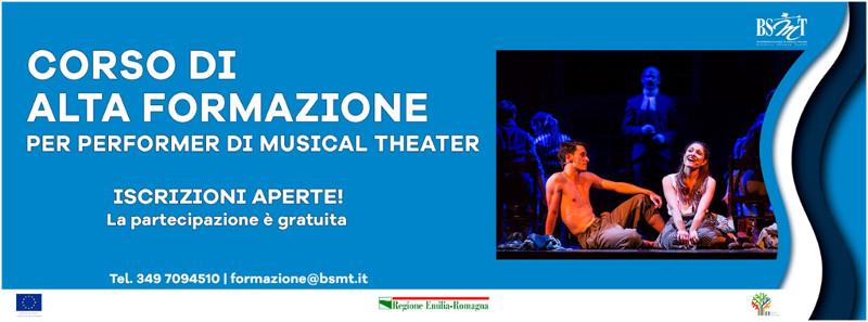 banner Corso gratuito di Alta Formazione performer musical theater