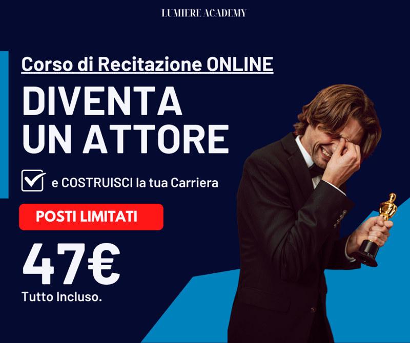 locandina Corso recitazione online Lumiere