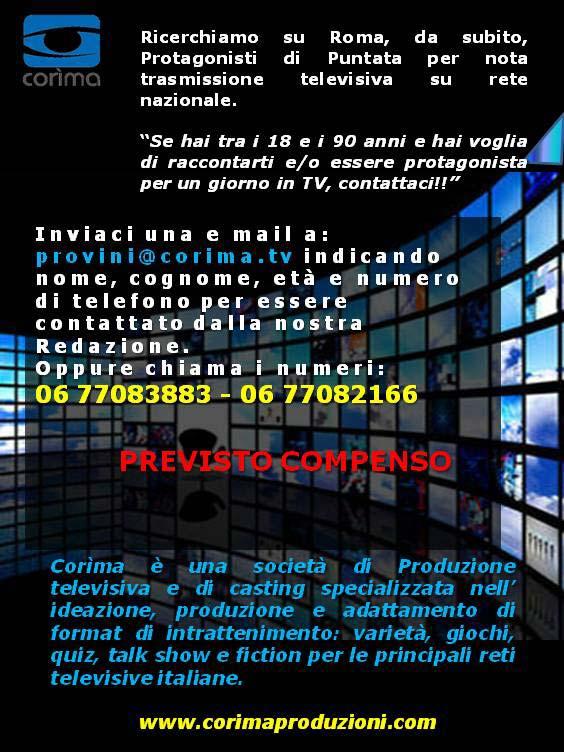 Locandina Casting TV Corima