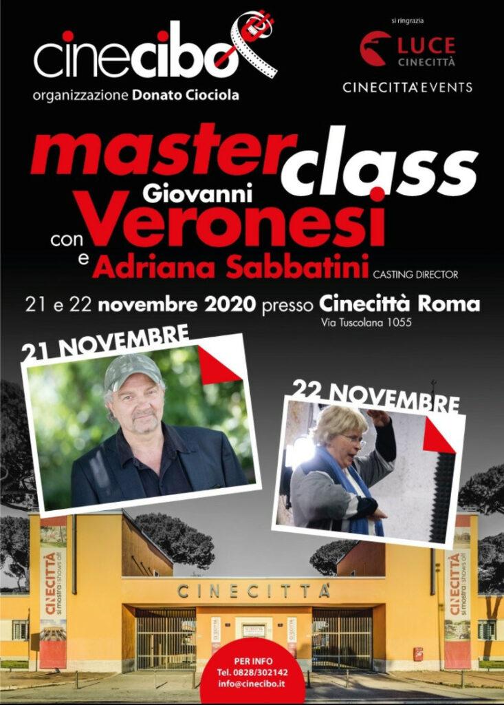 locandina masterclass Veronesi Cinecitta