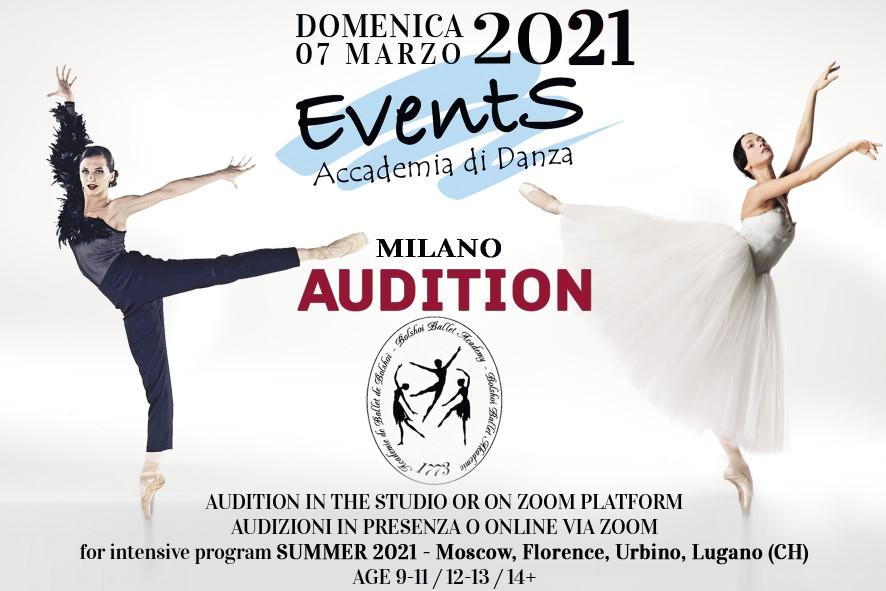 locandina masterclass audizione danza classica