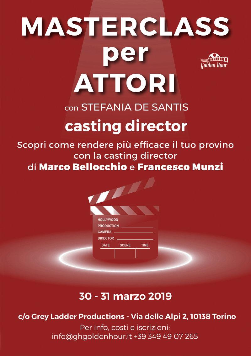 locandina masterclass recitazione Stefania De Santis