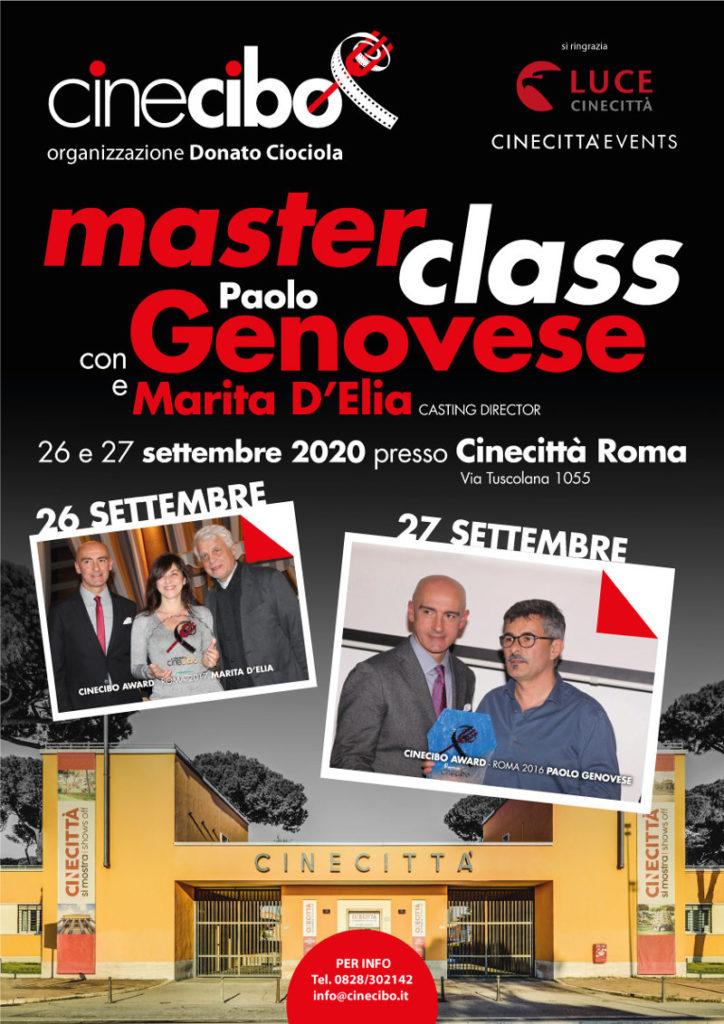 Locandina Masterclass Paolo Genovese
