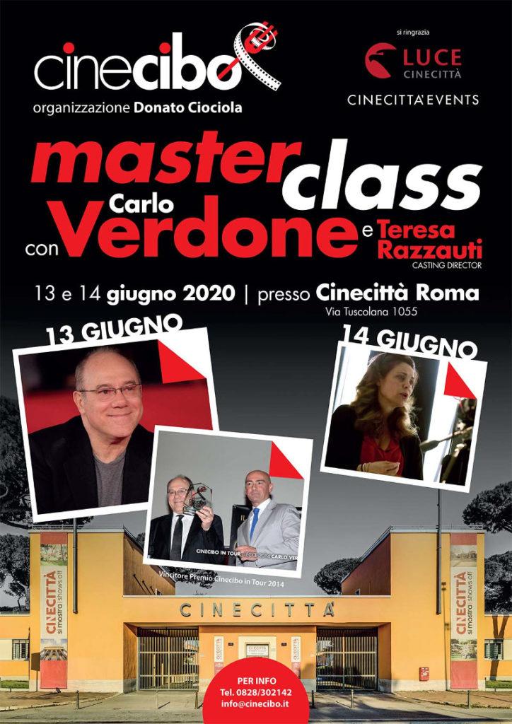 Locandina Masterclass Cinema Verdone