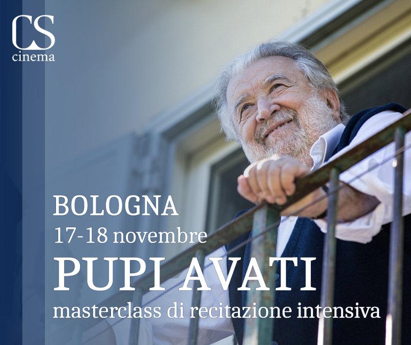 masterclass recitazione cinema Pupi Avati Bologna