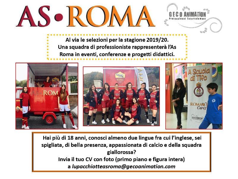 locandina selezioni as roma brand ambassador