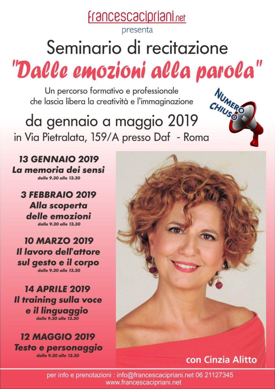 locandina seminario Cinzia Alitto Roma