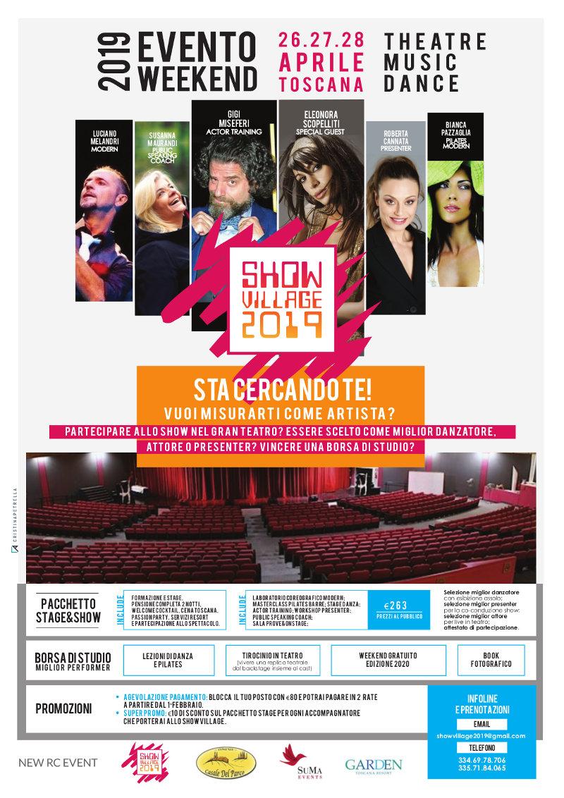 locandina Showvillage 2019 danza teatro musica