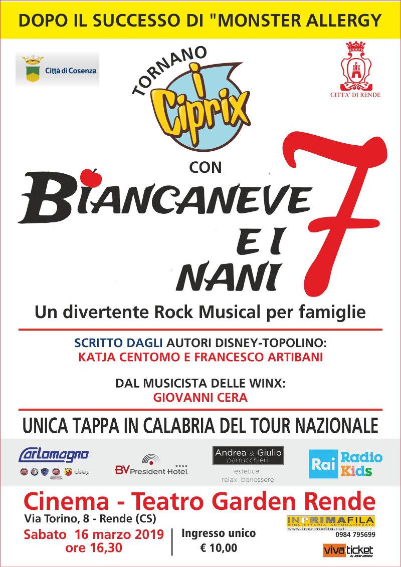 locandina spettacolo musical Ciprix Calabria
