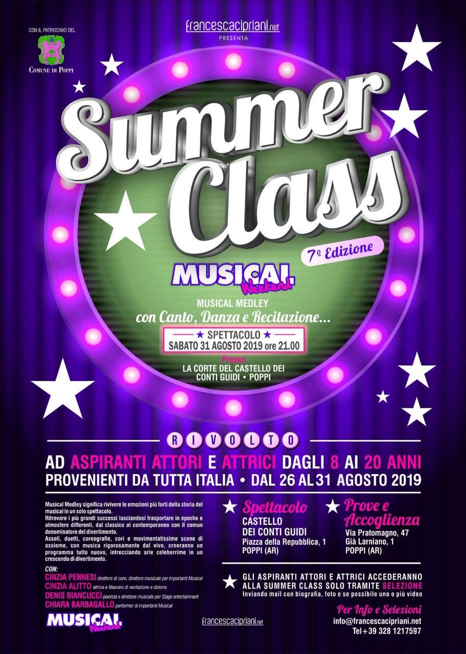 locandina Summer Class Musical 2019