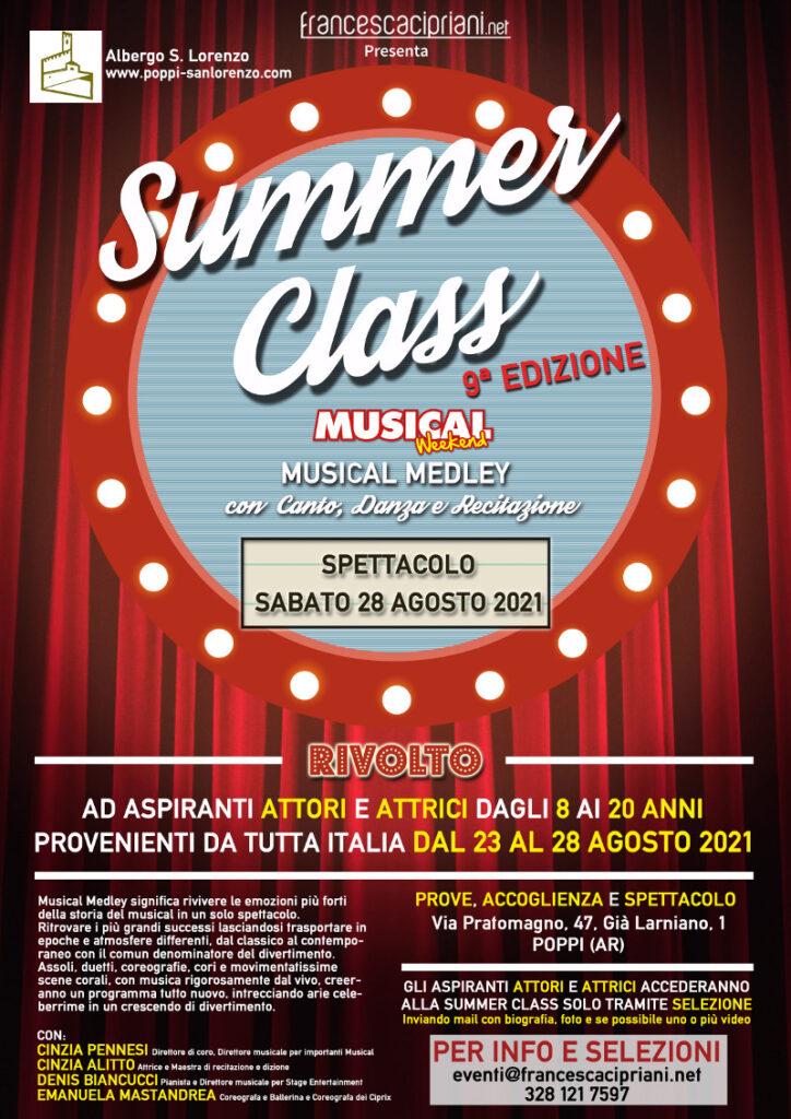 Locandina Summer Class Musical Weekend