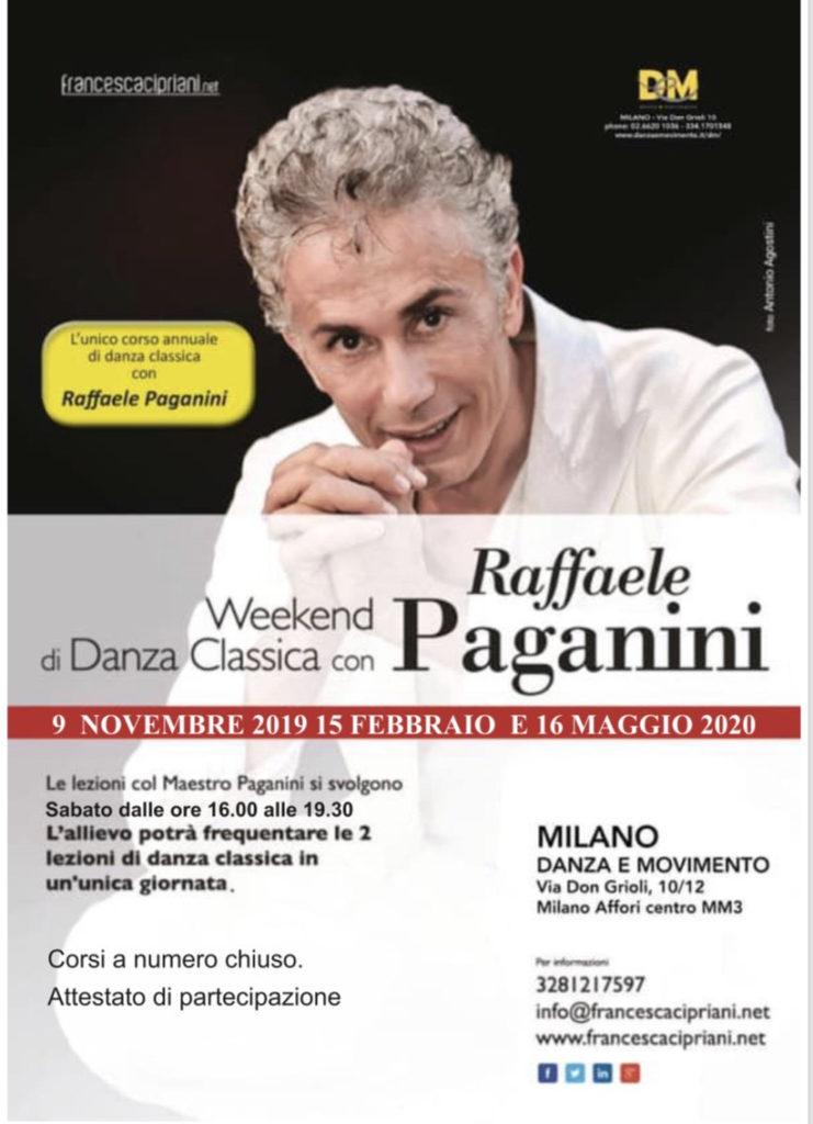 Locandina Weekend Danza Paganini
