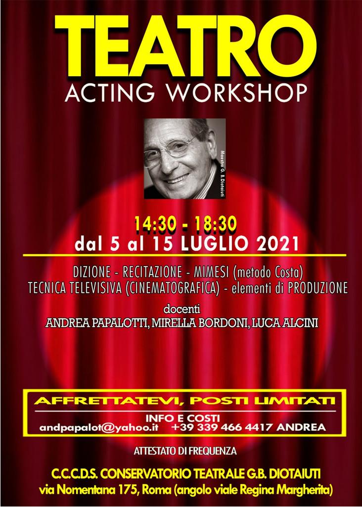 locandina workshop cccds recitazione
